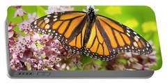 Portable Battery Charger featuring the photograph Monarch Butterfly Closeup  by Ricky L Jones