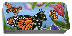 Monarch Butterfly Fairy Cat Portable Battery Charger
