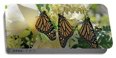 Monarch Butterfly Garden  Portable Battery Charger by Luana K Perez