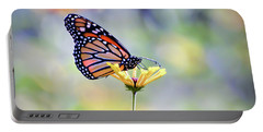 Portable Battery Charger featuring the photograph Monarch Butterfly -  In The Garden by Kerri Farley
