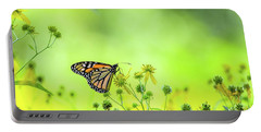 Portable Battery Charger featuring the photograph Monarch Butterfly by Lori Coleman