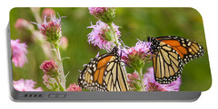 Monarch Butterfly Pair Square Format Portable Battery Charger