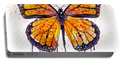 Monarch Butterfly Watercolor Portable Battery Charger