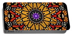 Monarch Butterfly Wings Kaleidoscope Portable Battery Charger
