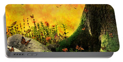 Monarch Meadow Portable Battery Charger by Ally  White