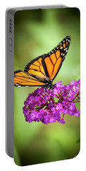 Monarch Moth On Buddleias Portable Battery Charger