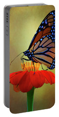 Portable Battery Charger featuring the photograph Monarch On A Mexican Sunflower by Chris Lord