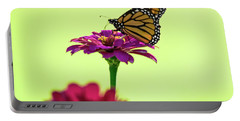 Monarch On A Zinnia Portable Battery Charger by Shelly Gunderson