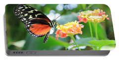 Monarch On Flower Portable Battery Charger