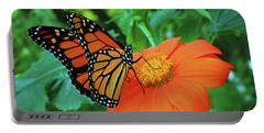 Monarch On Mexican Sunflower Portable Battery Charger