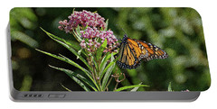 Portable Battery Charger featuring the photograph Monarch On Milkweed by Sandy Keeton