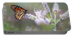 Portable Battery Charger featuring the photograph Monarch On Mint 1 by Lori Deiter
