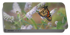 Portable Battery Charger featuring the photograph Monarch On Mint 2 by Lori Deiter