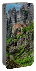 Monastery Of Saint Nicholas Of Anapafsas, Meteora, Greece Portable Battery Charger