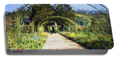 Monet House And Spring Garden In Giverny Portable Battery Charger