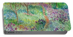 Monet Inspired Iris Garden Portable Battery Charger