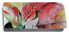 Monet Poinsettia Portable Battery Charger