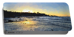 Monet Sunset At La Jolla Shores Portable Battery Charger