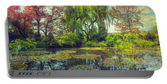 Monet's Afternoon Portable Battery Charger by John Rivera