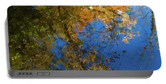 Portable Battery Charger featuring the photograph Monet's Autumn Pool by Lon Dittrick