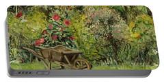 Monet's Garden Wheelbarrel Portable Battery Charger