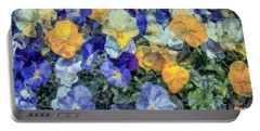 Monet's Pansies Portable Battery Charger