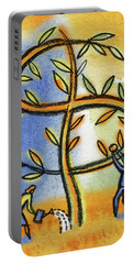 Portable Battery Charger featuring the painting Money Tree by Leon Zernitsky