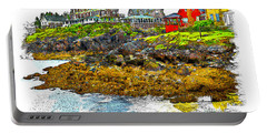 Monhegan West Shore Portable Battery Charger by Tom Cameron