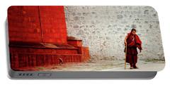 Monk In Tashilhunpo Monastery Shigatse Tibet Yantra.lv Portable Battery Charger