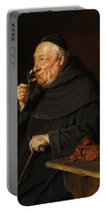 Monk With A Wine Portable Battery Charger