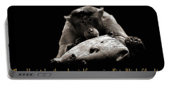 Monkey And Thoughts  Portable Battery Charger by Manjot Singh Sachdeva
