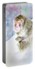Monkey In Meditation Portable Battery Charger