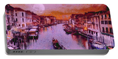 Monkey Painted Italy Again Portable Battery Charger