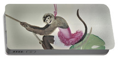 Monkey Swinging In The Trees Portable Battery Charger