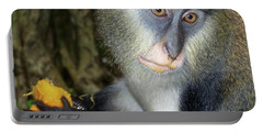 Monkey With His Mango Portable Battery Charger