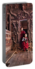 Monks In Myanmar Portable Battery Charger
