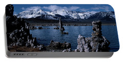 Mono Lake-signed Portable Battery Charger by J L Woody Wooden
