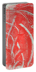 Portable Battery Charger featuring the drawing Mono Print 001 - Rotation by Mudiama Kammoh