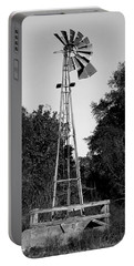 Monochrome Abandoned Windmill Whisper Windmill   Portable Battery Charger