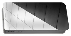 Monochrome Building Abstract 3 Portable Battery Charger