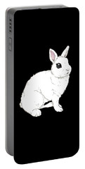 Monochrome Rabbit Portable Battery Charger