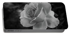 Monochrome Rose Macro Portable Battery Charger