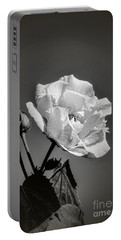 Portable Battery Charger featuring the photograph Monochrome Rose Of Sharon by Elaine Teague