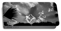 Monochrome Sunburst Portable Battery Charger by Eric Liller