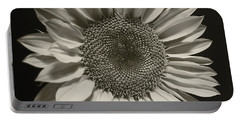 Monochrome Sunflower Portable Battery Charger