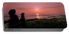 Portable Battery Charger featuring the photograph Monoliths At Sunset by Lori Seaman