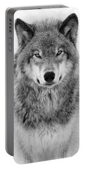 Monotone Timber Wolf  Portable Battery Charger