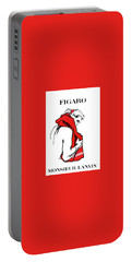 Portable Battery Charger featuring the digital art Monsieur by Kim Kent