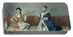Monsieur Levett And Mademoiselle Helene Glavany In Turkish Costumes Portable Battery Charger