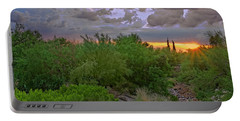 Portable Battery Charger featuring the photograph Monsoon Sunset H56 by Mark Myhaver